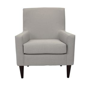 New Arrival Nordic upholstered armchairs with wood legs for living room