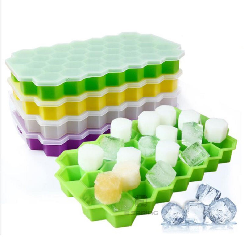 One-Stop Service [ Ice Mold ] Silicone Tray Mould BPA Free Silicone Ice Cube Trays Silicone Mold Flexible Ice Cube Tray Honeycomb Shape Ice Cube Trays