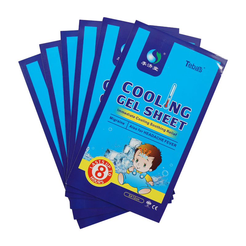 Oem Hot Verkoop Chinese Kruiden Cooling Patch Ice Sheet <span class=keywords><strong>Baby</strong></span> Cool Pads Koorts Vel Medische Cooling Gel Patch