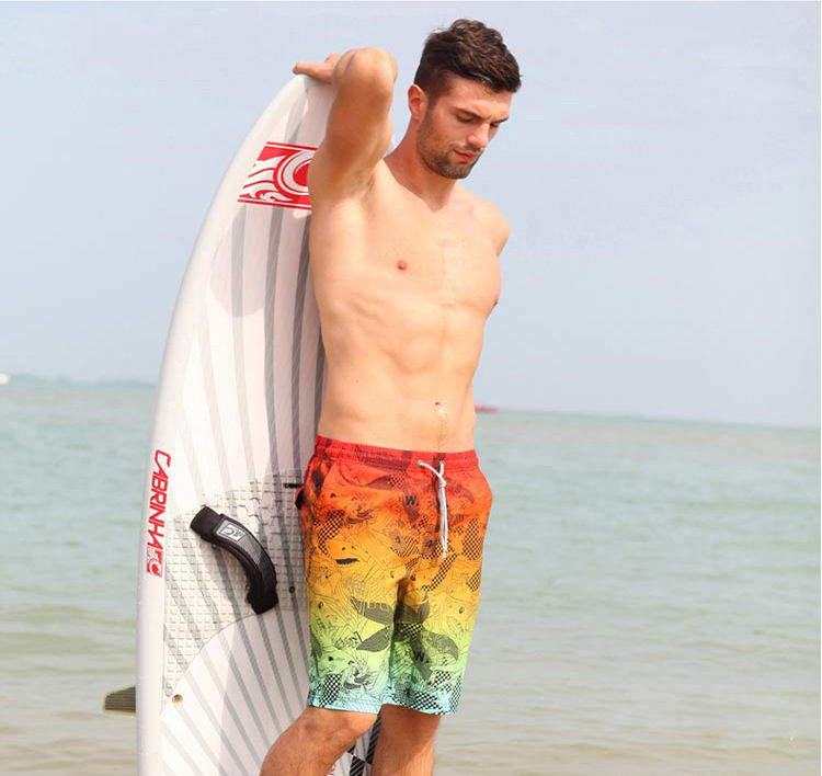 Customized Men Pattern Swim Trunks Lightweight Beach Trunk Shorts Surfing Men Board Shorts For Swimming