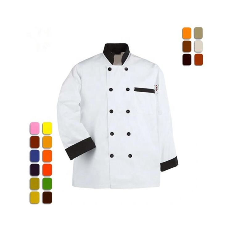 Fashion Classic Polyester Katoen Wit <span class=keywords><strong>Chef</strong></span> Jas Schuine Pocket Ontwerp <span class=keywords><strong>Chef</strong></span> Uniformen Voor Restaurant <span class=keywords><strong>Chef</strong></span>