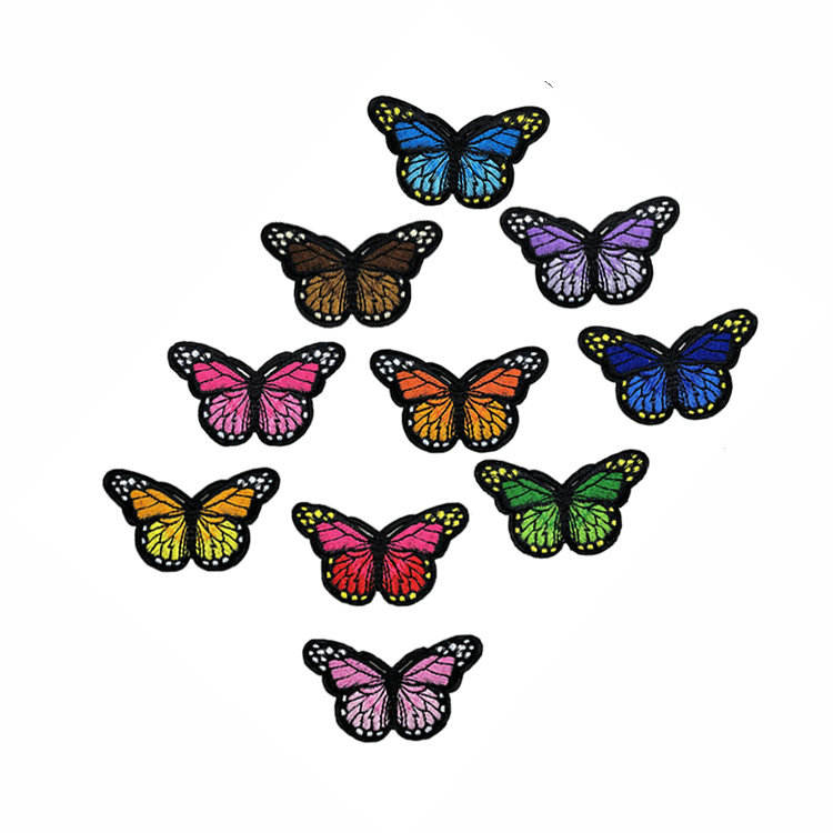 Iron On Patches For Clothing Multicolor Butterfly Embroidery Patch Appliques Badge Stickers For Clothes