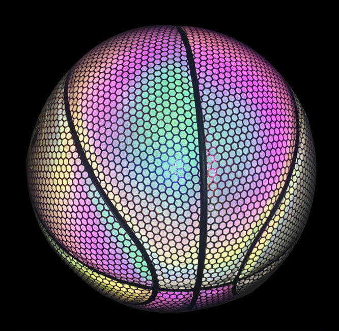 Good quality glow in the dark shine shiny basketballs night light up official basketball balls