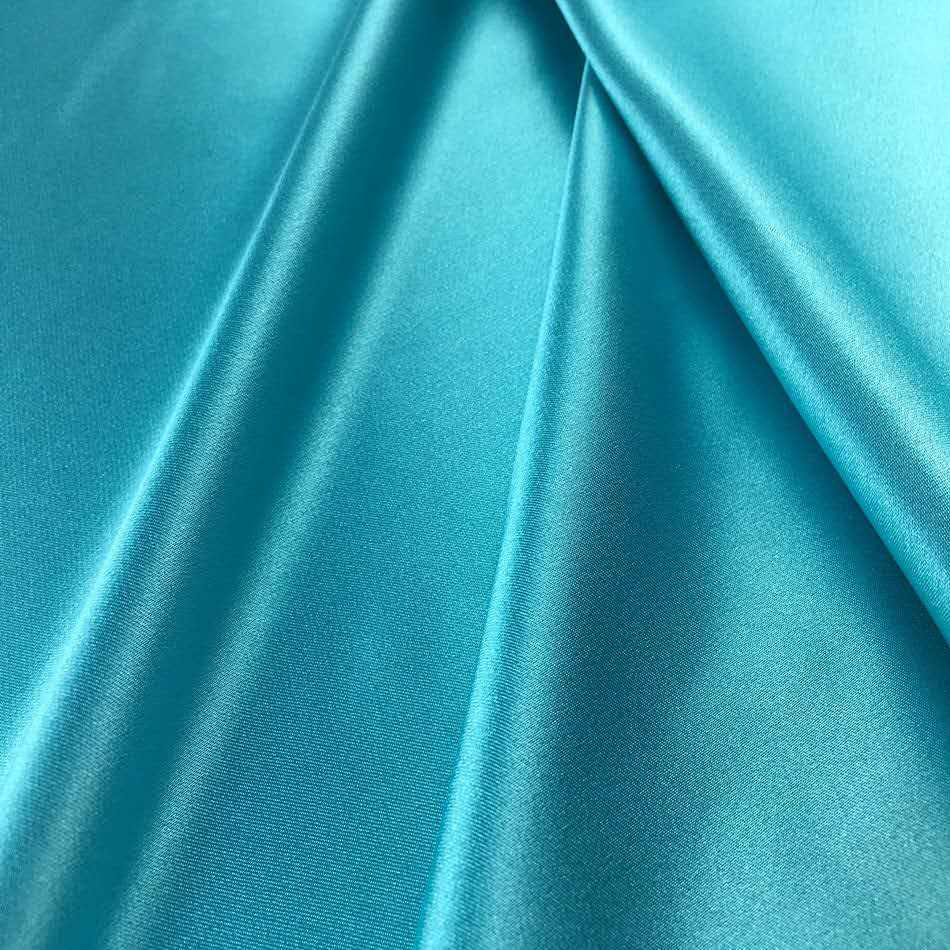 jiangsu hot sale tricot recycled polyester solid dyed stretched satin fabric for scarves