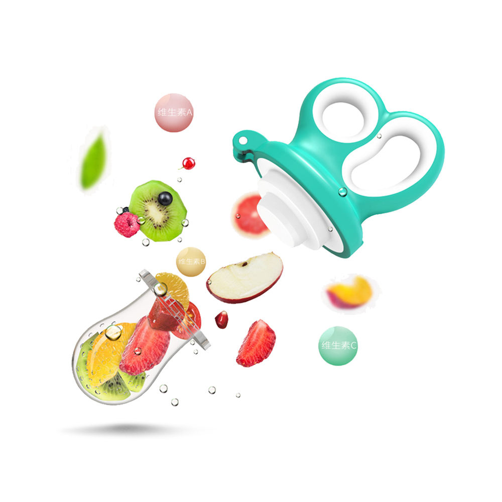 Custom Infant Food Portable Silicone Pacifier Fruits Feeding Supplies Soother Nipples Silicone Baby Nipple Feeder