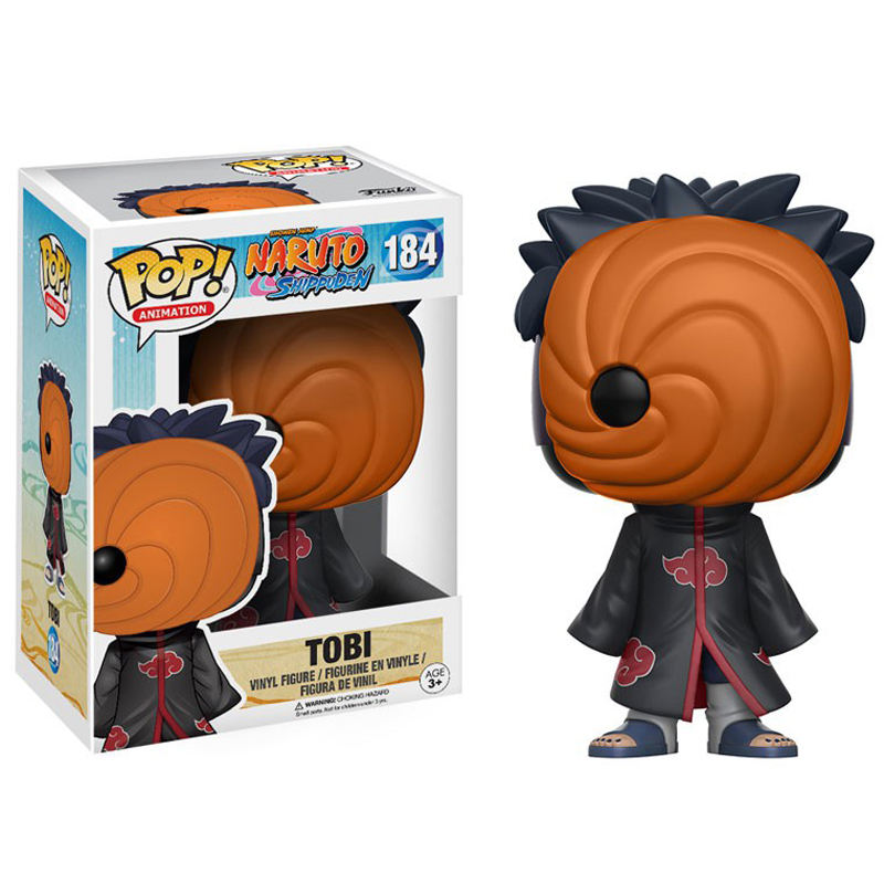 Funko — figurine Pop #184 de collection, <span class=keywords><strong>Naruto</strong></span> Tobi, jouet, modèle d'action