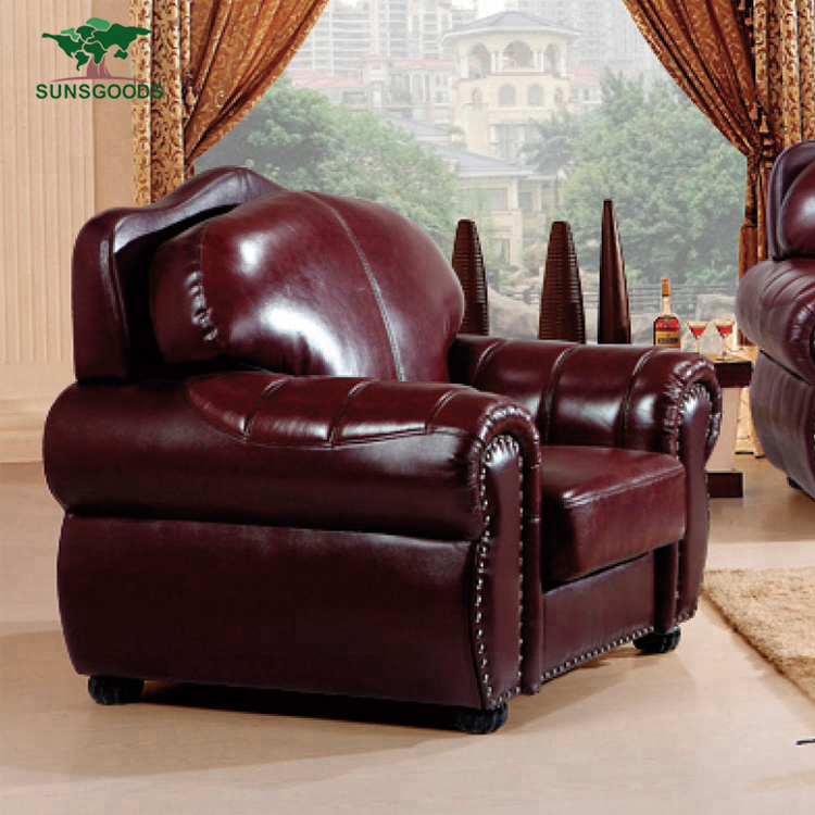Latest Design Dark Red Leather Sofa,Full Leather Sofa Set,Full Leather Couch