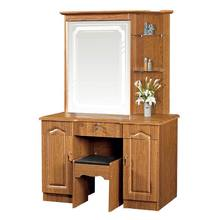 simple style economic PVC MDF dressing table with stool
