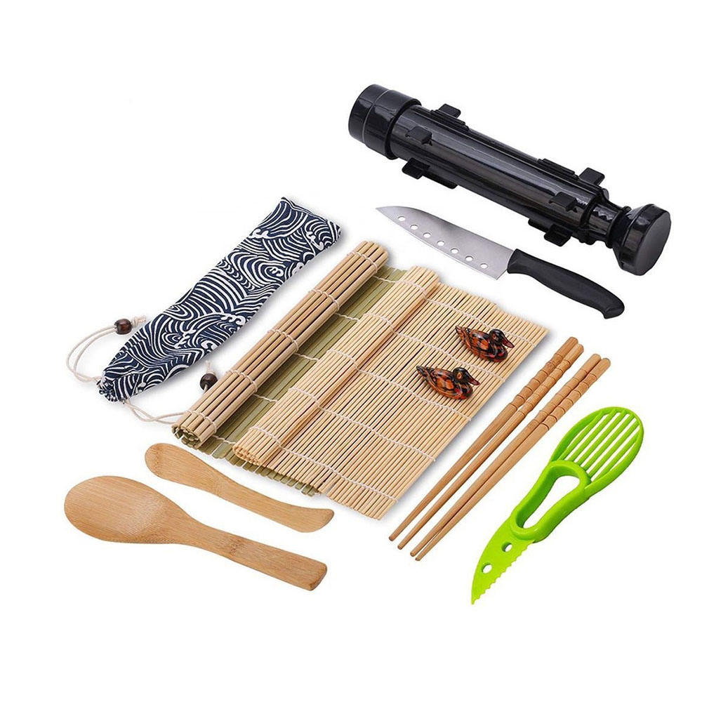 Sushi Making kit Natural Sushi DIY Rolling Kitchen Bamboo Rolling Mats sushi mold set