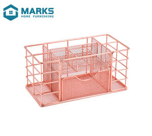 2020 New Design Office Desktop 9 Compartment Metal Mesh Office Storage Basket Pen Holder