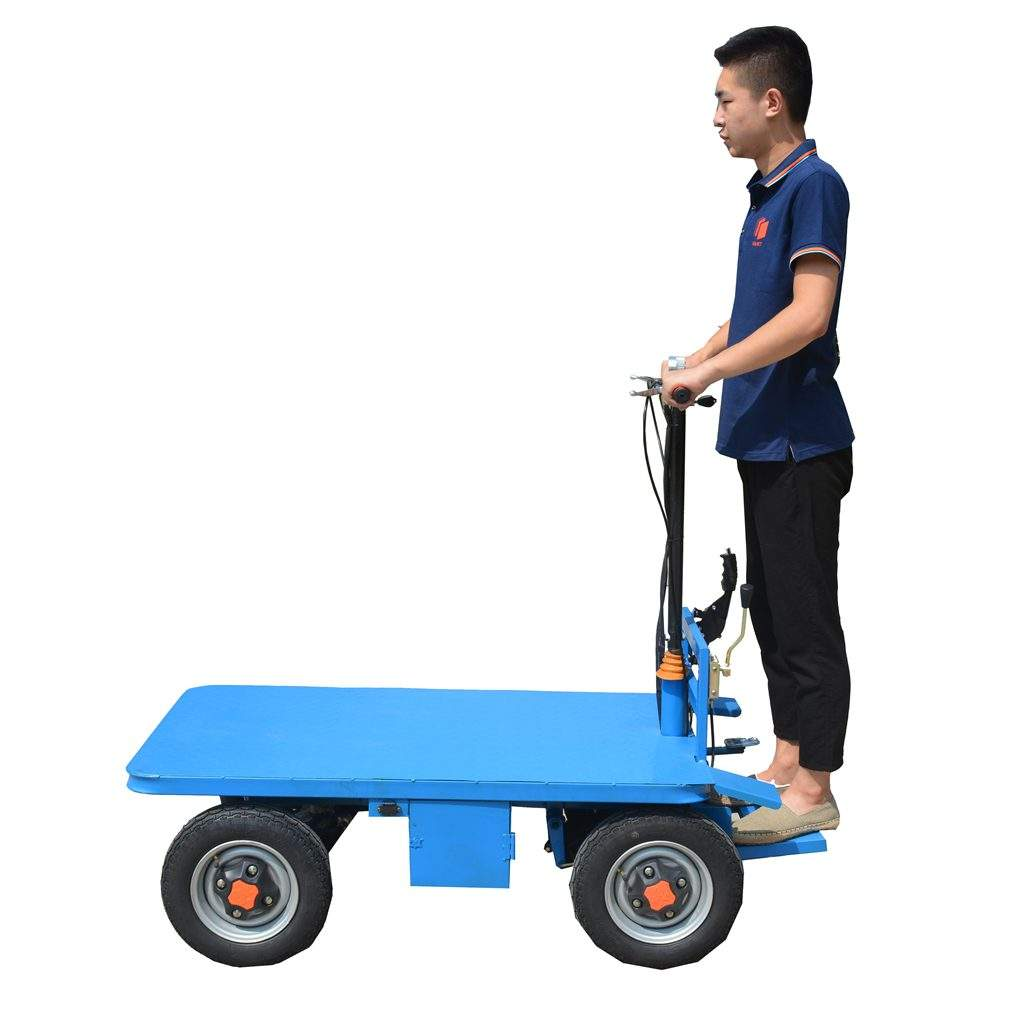 electric warehouse mini trolley platform trailer dolly electric