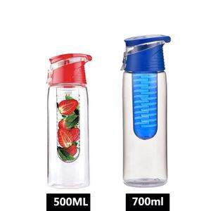Manufacturers Free Sample Tritan plastic water bottle fruit infuser BPA Free Lemon Infuser Water Bottle With Filter