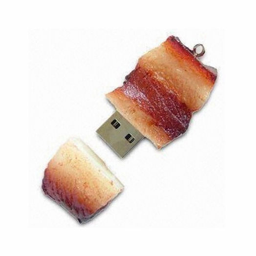 bacon shape usb stick Customized gift pvc simulation food usb flash drive 2.0 3.0 usb stick with logo