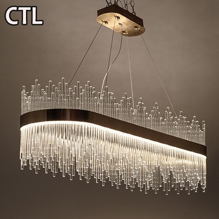 hotel modern 2020 new design living room luxury k9 crystal chandeliers pendant lights guzhen stainless steel led hanging lights