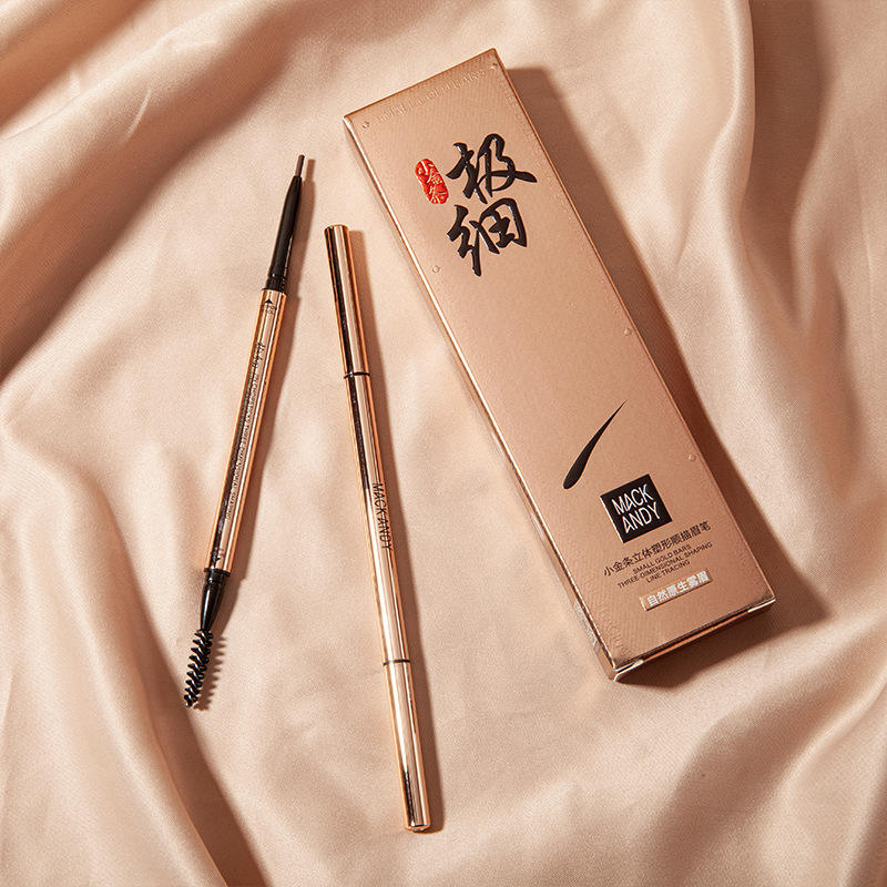 MACKANDY eyebrow pencil killbrow hot sales valentines 3 colors day mapping super slim gold nature coeye brow pencil