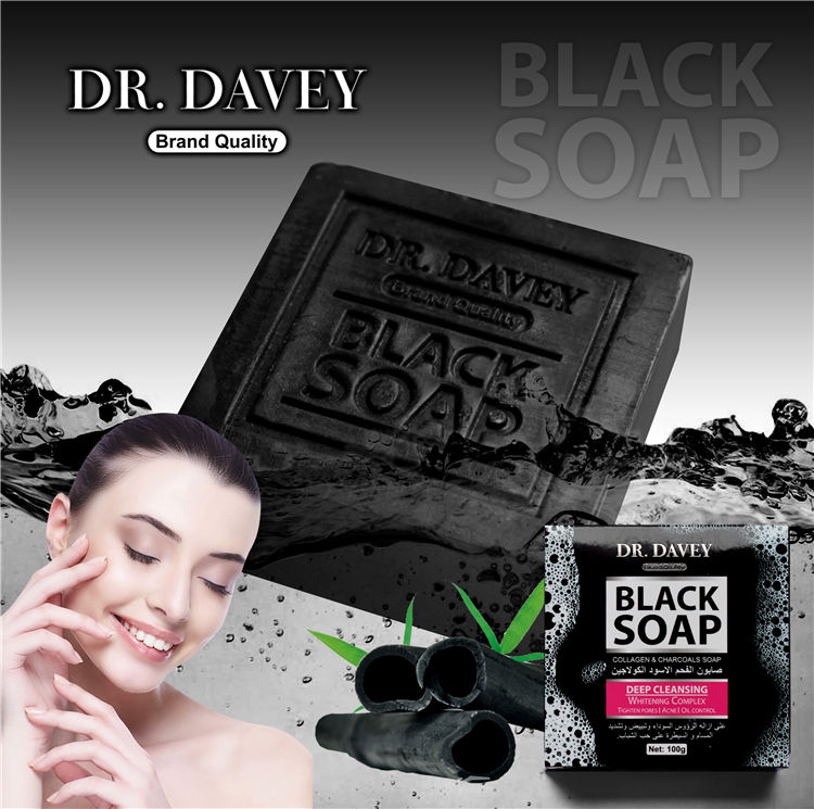Vanelc Private Label Black Soap Bamboo Charcoal Handmade Soap Whitening Soap