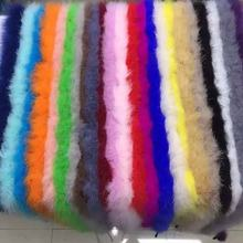 New! hot selling feather boa wholesale Fluffy Dyed Colors Turkey Marabou Feather Boas for decoration