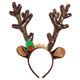 Custom Funny Party Girl Kids Christmas Headband Velvet Feather Christmas Deer Reindeer Antler Headband