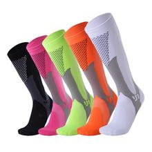 Professional Compression Socks Xl Factory Obm Knee High Stockings Colored Nylon Running Cycling Nurse Sport Hosiery