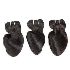 Bliss Toocci Funmi Hair Virgin Brazilian Cuticle Aligned Hair Bouncy Curl Human Hair Weave with Closure