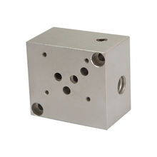 1 station Hydraulic manifold block