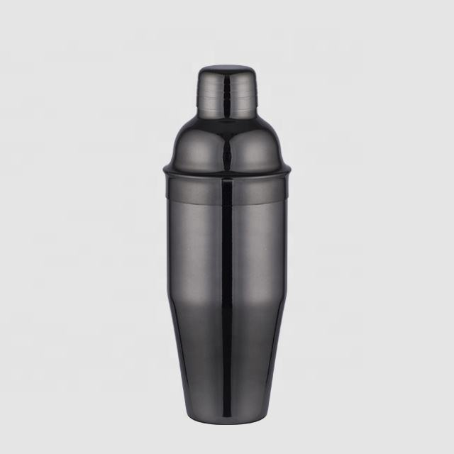Factory Direct 750ml stainless steel cocktail shaker black