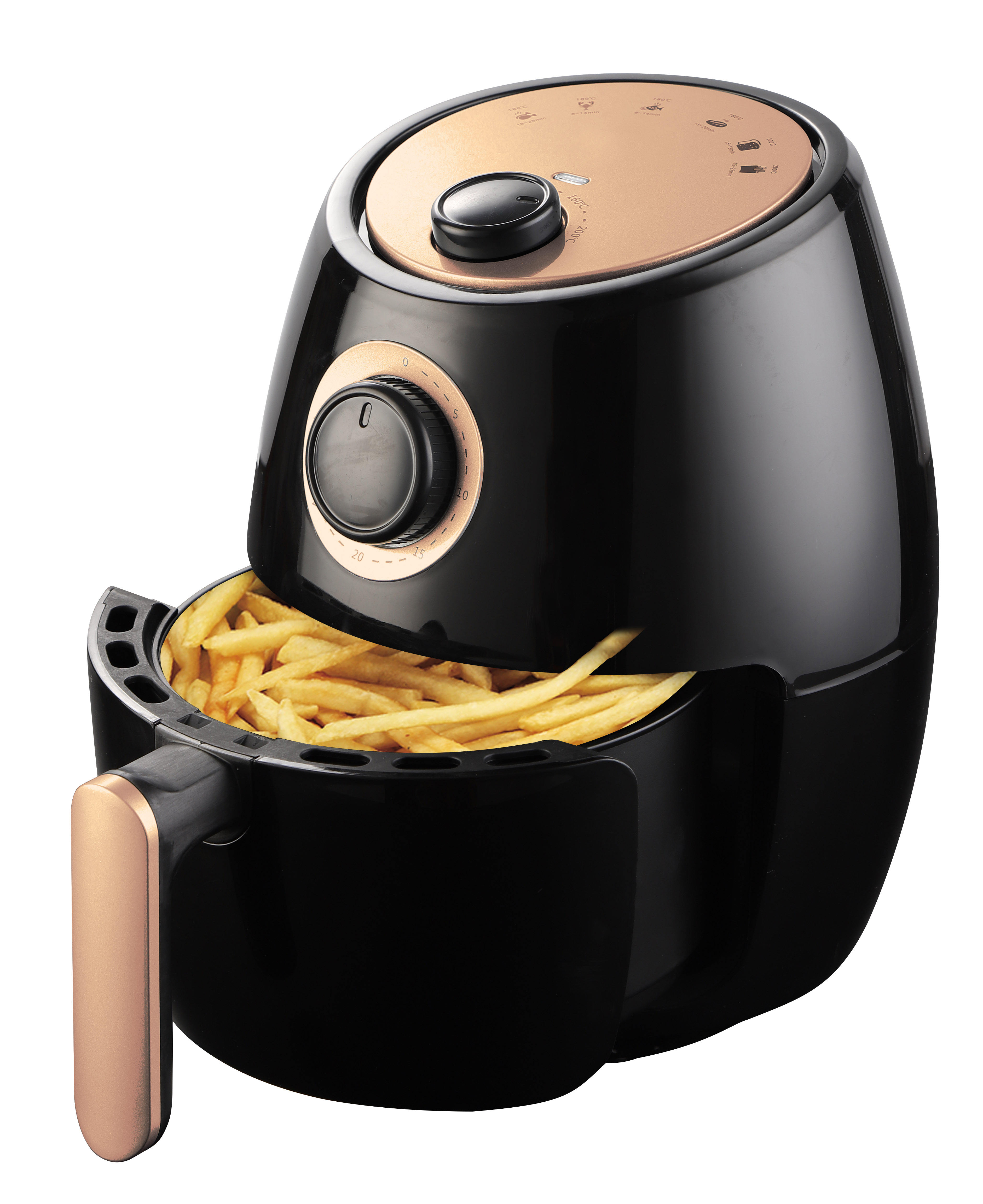 New design 2.0L mini air fryer frying food without oil