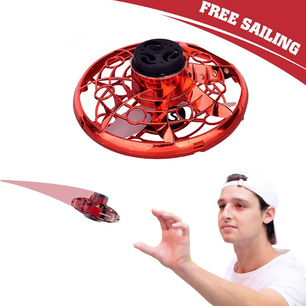 Inductive Aircraft FlyNova Flying Spinner toy flying items Hand Operated Drones Scoot Hands Free Mini Drone Helicopter