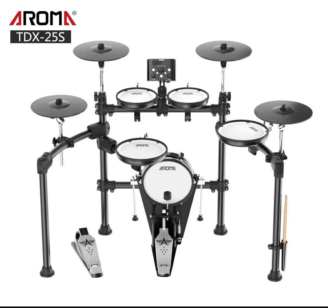 AROMA TDX-25S high quality All-Mesh 5+4 electronic drums with dual zone snare and cymbals wholesale