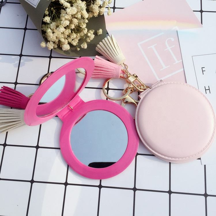 Key chain supplier wholesale custom compact dental mirror keychain