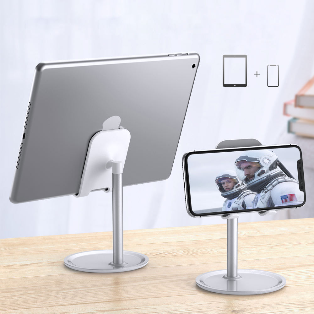 Free Shipping 1 Sample OK RAXFLY Universal Anti-Slip Desktop Adjustable Phone Holder For iPad Desk Aluminium Alloy Tablet Stand