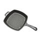 26.5cm China wholesaler deep size seasoned griddle non stick skillet cast iron large square grill pan