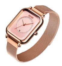 Skmei 9207 Magnet Mesh Jam Tangan Stainless Steel Band Women Luxury Watch with Date