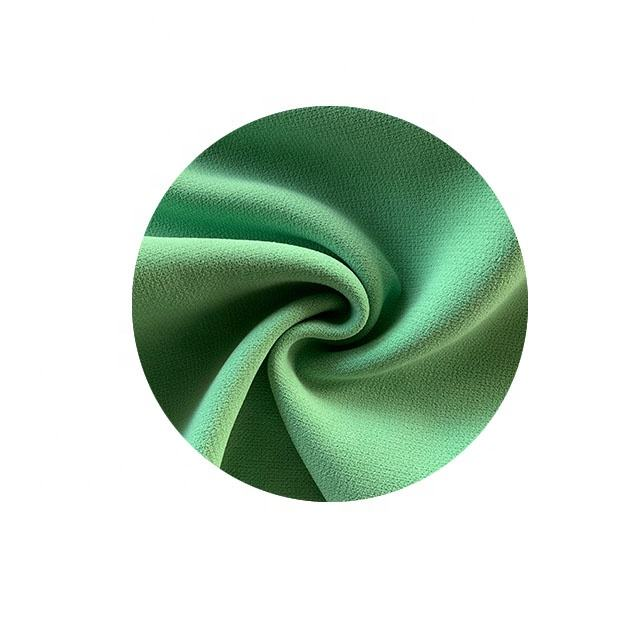 weave soft cotton touch mess surface aqua twill double layer fabric 100% Polyester woven Fabric