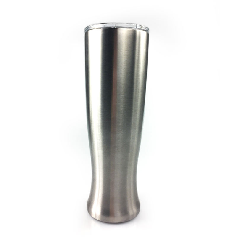 High Quality Metal Cup Pilsner Tumblers 30 oz Stainless Steel Tumbler Double Wall Vase Shape Beer Tumbler