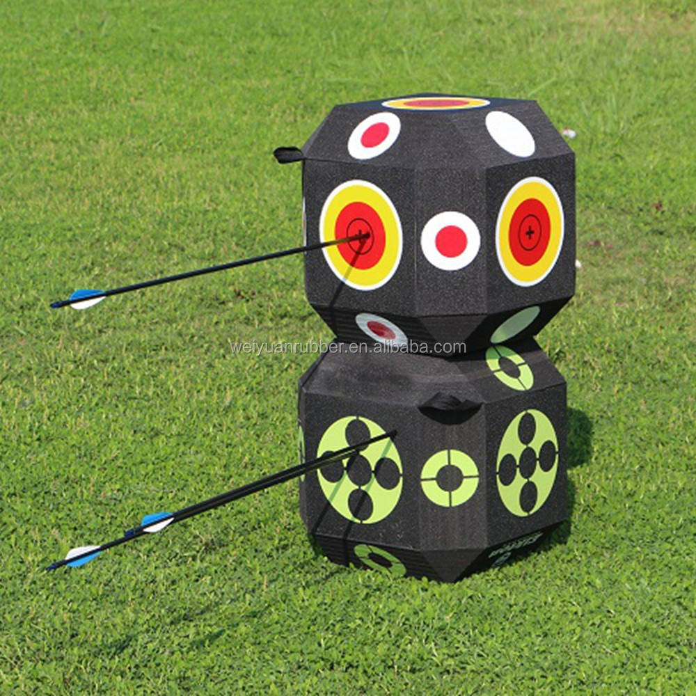 Wholesale New Design Durable 3D Cube EVA Foam Archery Target For Shooting Games And Training