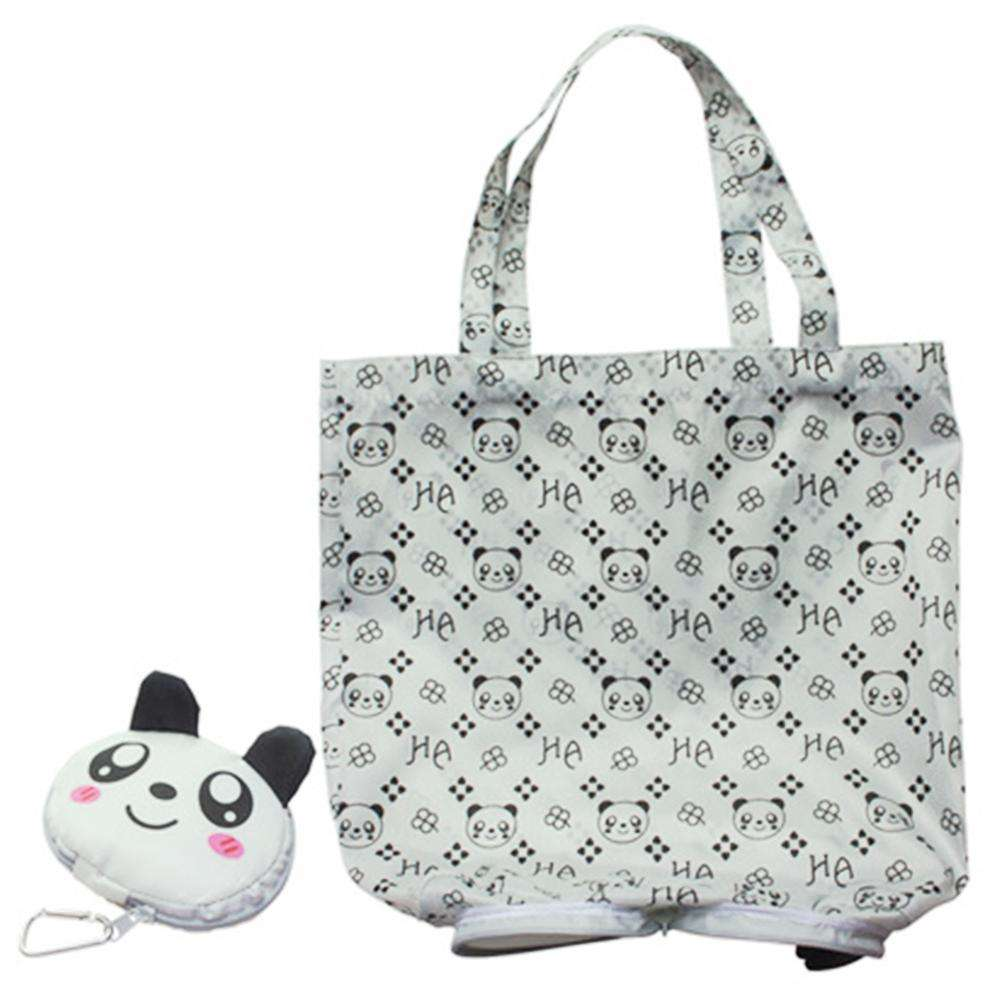Eco reusable durable folding animal cartoon large shopping nylon tote bag
