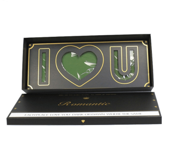 Hebei huiya Rectangular flower box with I LOVE YOU, Package Box, Gift Box