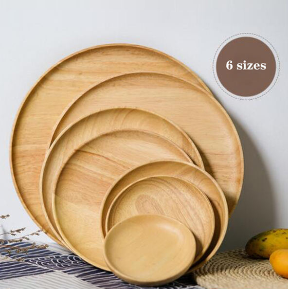 New arrival high quality Unbreakable eco dinner plates rubber wood plates