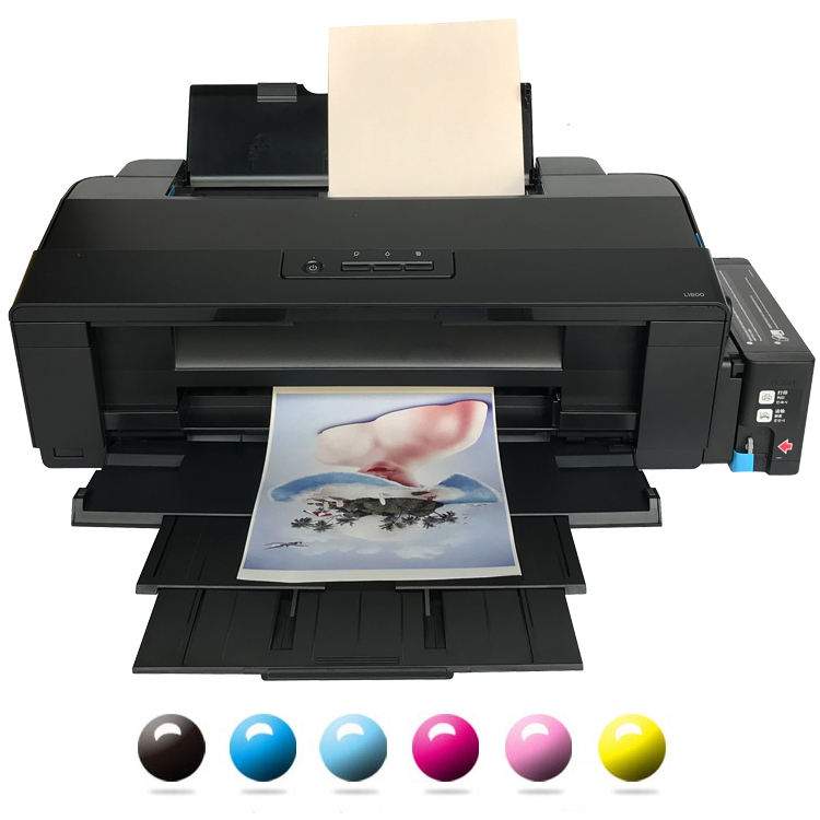 Hot Koop Zes Kleuren Printer Thermische Transfer Printer A3 Model Desktop Inkjet Printer Voor Epson L1800