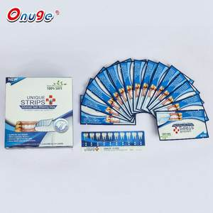 Teeth Whitening Supplier Custom Logo Mint Flavored Tooth Bleaching Strips