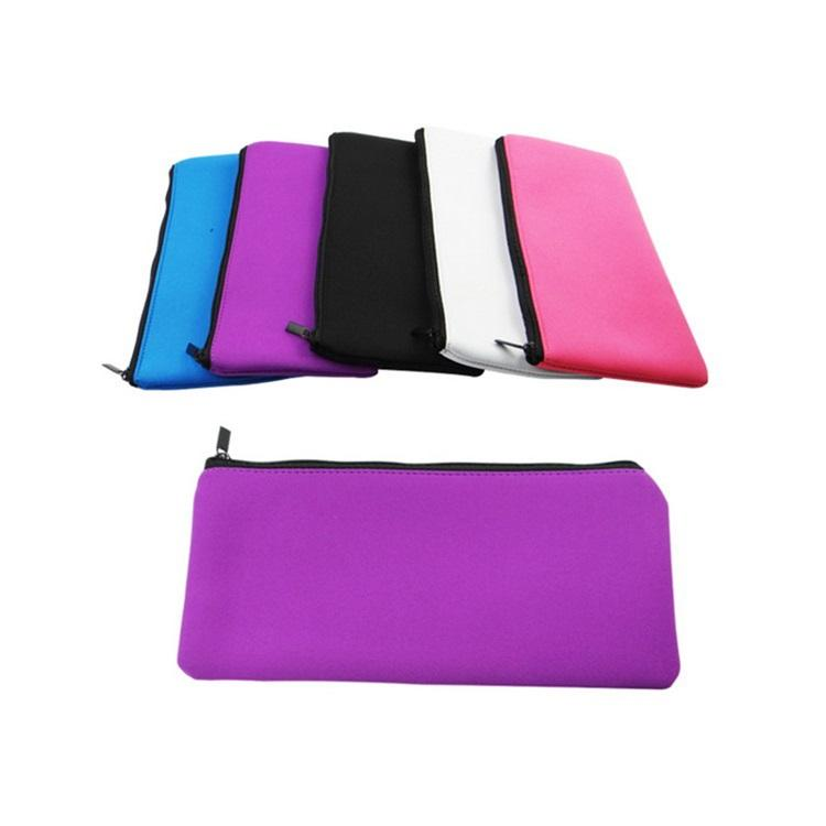 Custom Waterproof Neoprene Zipper Pencil Case Bag