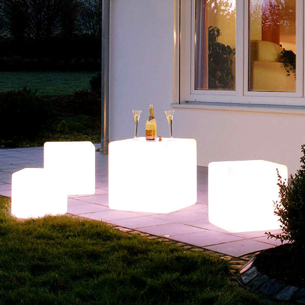led cube seat lighting/outdoor led cube chair / led cube for event party wedding mini magic cube portable chair