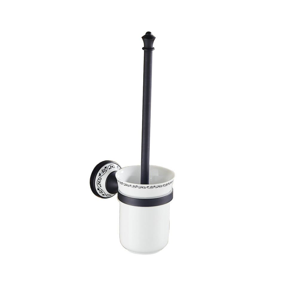 Beelee Wall Mounted Black Toilet Brush Holder Bathroom Cleaning Brush Holder WC Clean Brush Holder