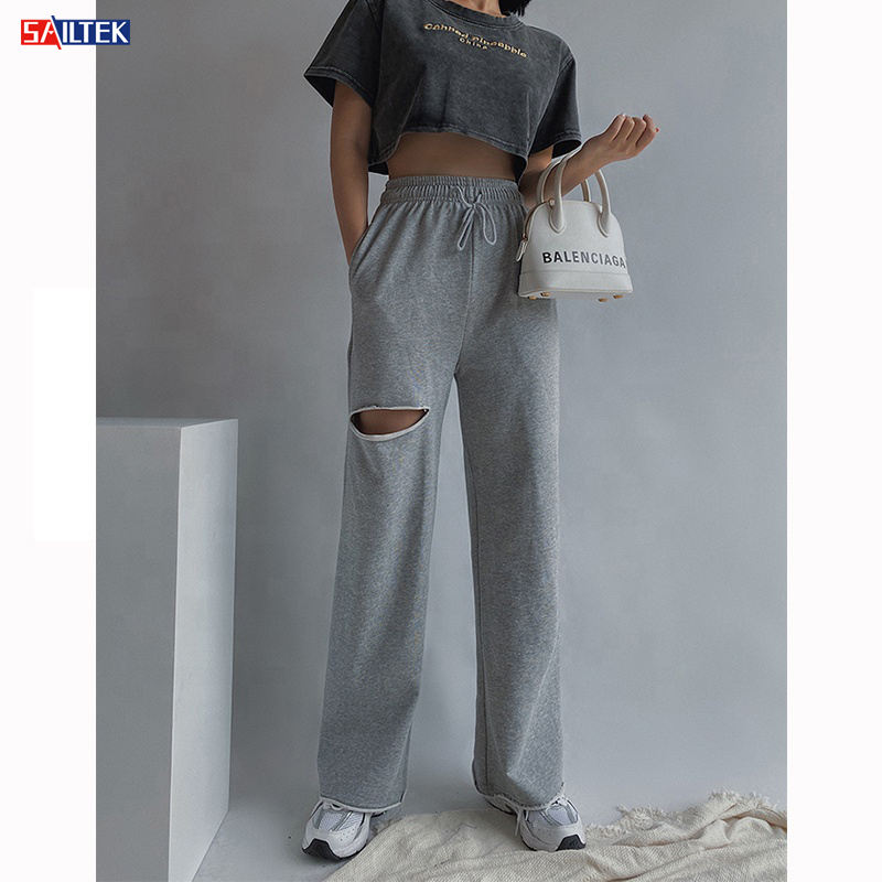 2020 High Quality Custom Logo Long Length Comfy Cotton Trousers Women Multicolor Womens Jogging Pants