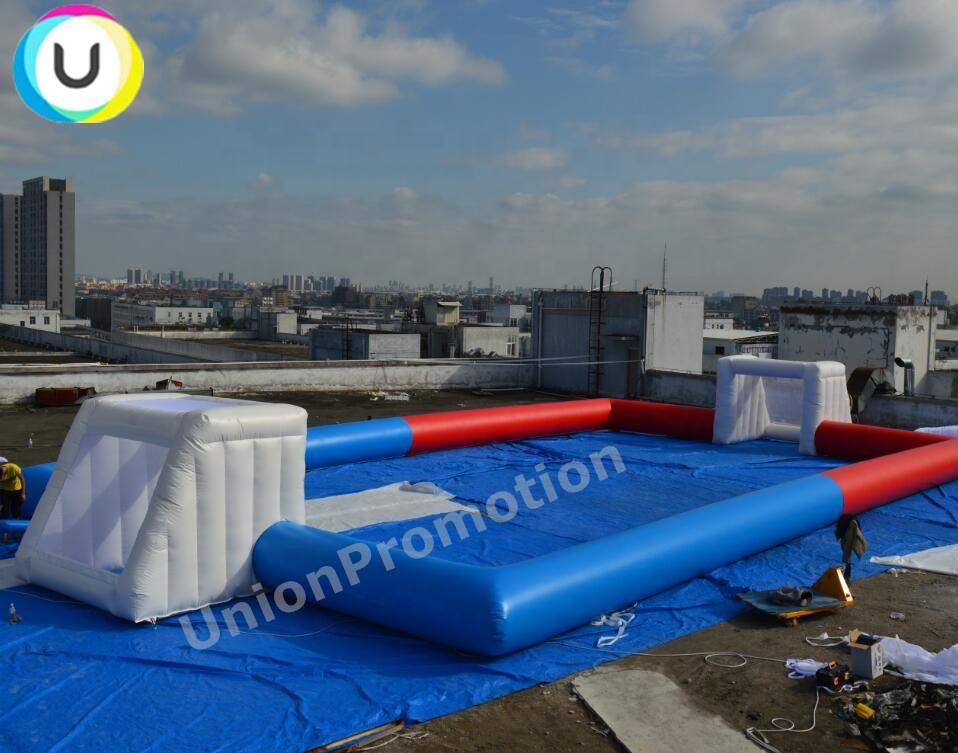 24m long cheap big inflatable soccer field without floor