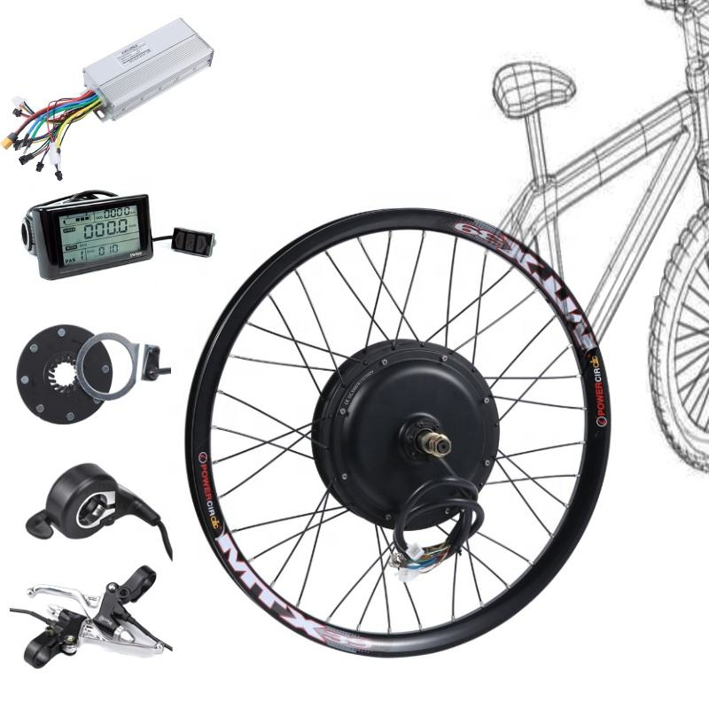 ElectricバイクKit 48v 1500ワットElectric Bicycle Front/Rear Motor Wheel変換Kit