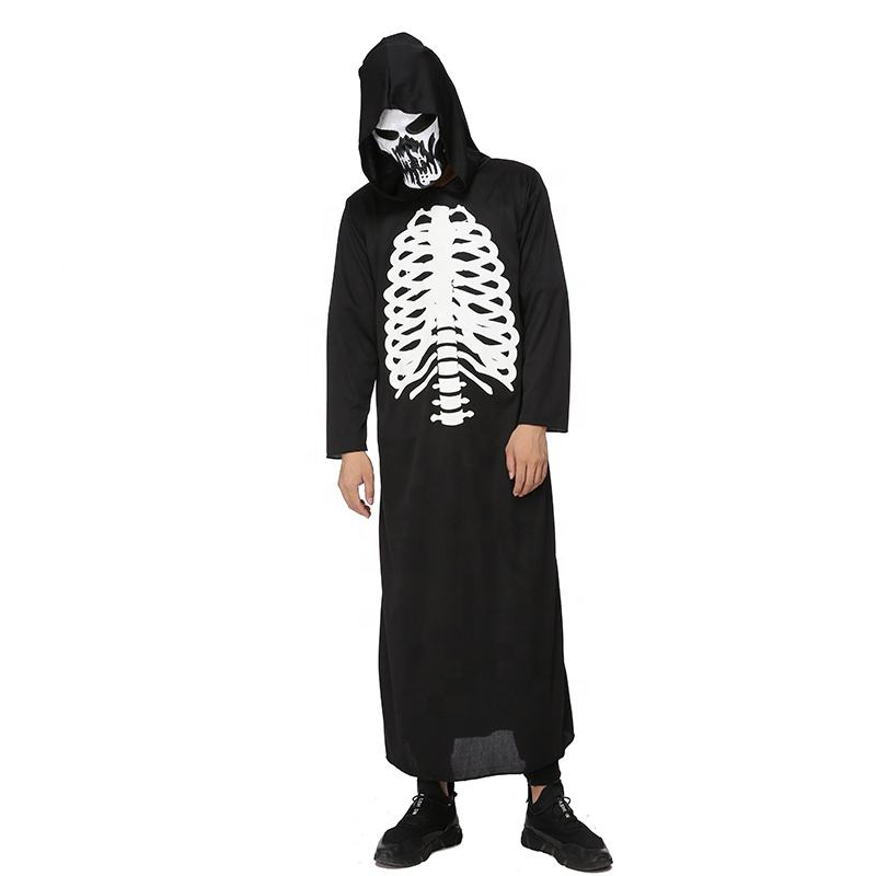 Wholesale disfraz costume adult halloween skeleton costume glow in the dark men costume