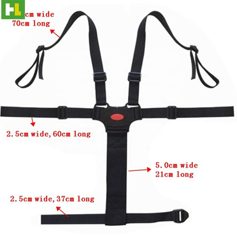 China high quality Top Selling car seat and stroller safety harness with 5 points for Child