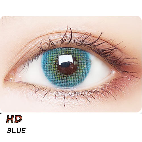 Super Natural Mix Blood Colored Contact Lenses 14.2mm Yearly Eye Lenses Lentilles de Contact For Cosmetic Eye HD BLUE